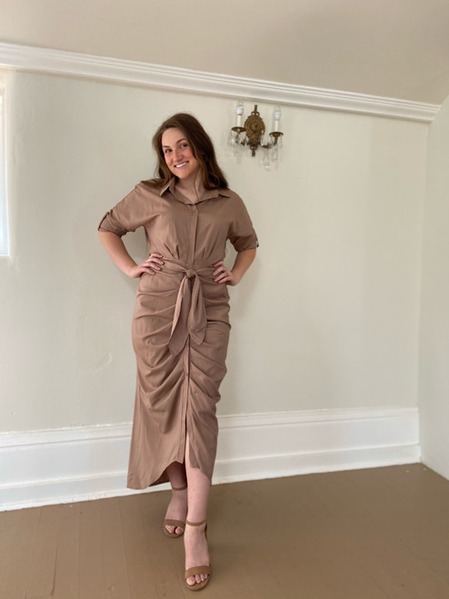 Together & Composed Ruched Dress