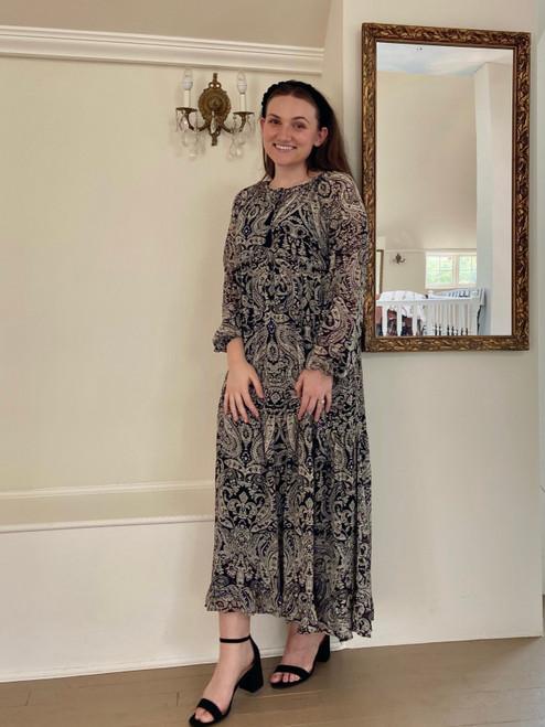 Paisley Tiered Maxi Dress