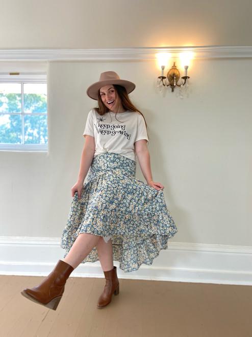 Mia High Low Ruffle Skirt *Mint*