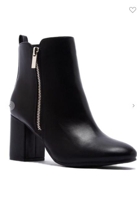 Zipper Ankle Boots  *Black*