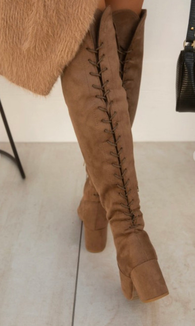 Lace Up Boots  *Tan*