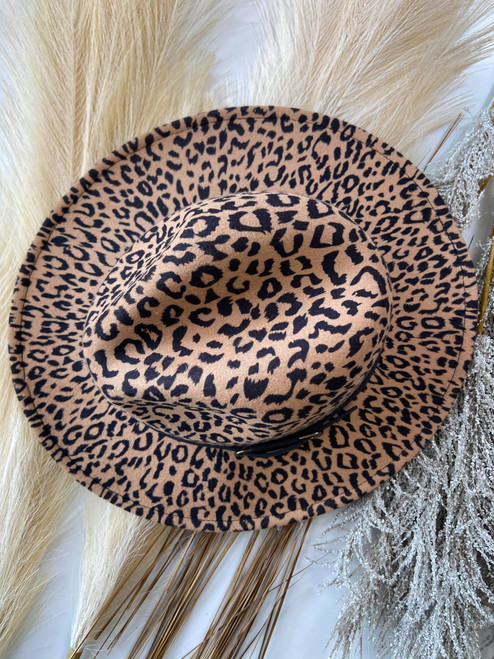 Leopard Felt Brim Hat