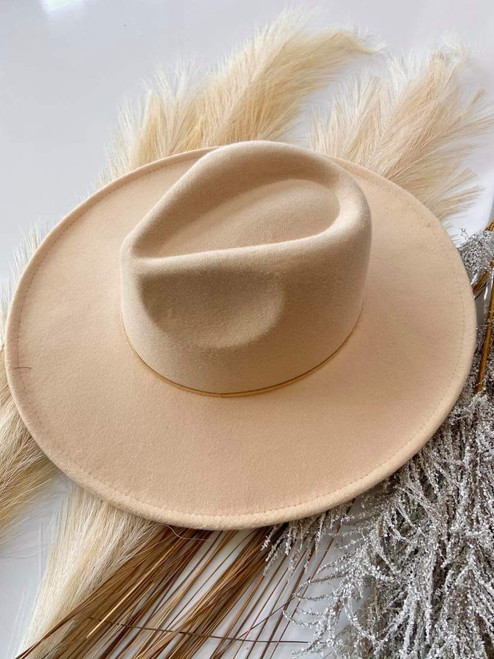 Paige Boutique Felt Brim Hat *Cream/Gold*