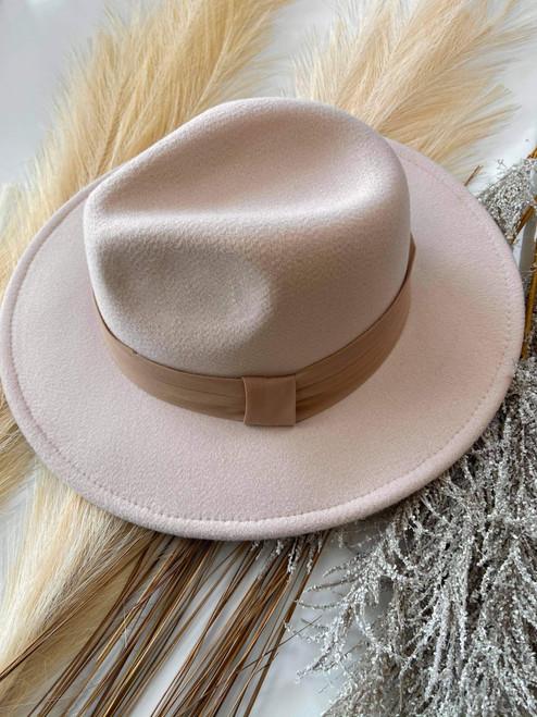 Melissa Boutique Felt Brim Hat *Beige*