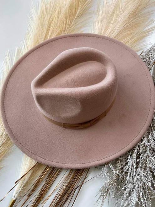 Cara Boutique Felt Brim Hat *Taupe*