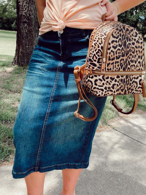 Bridget Whiskered Denim Skirt *Vintage Wash*