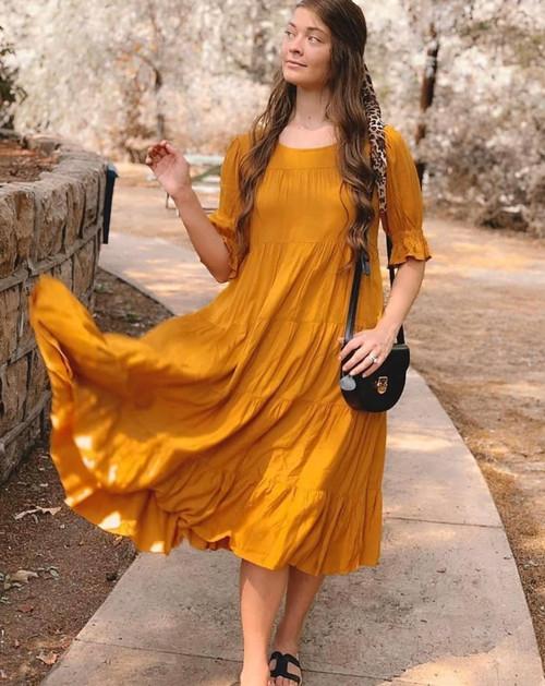 Enchanted Heart Golden Twirl Dress