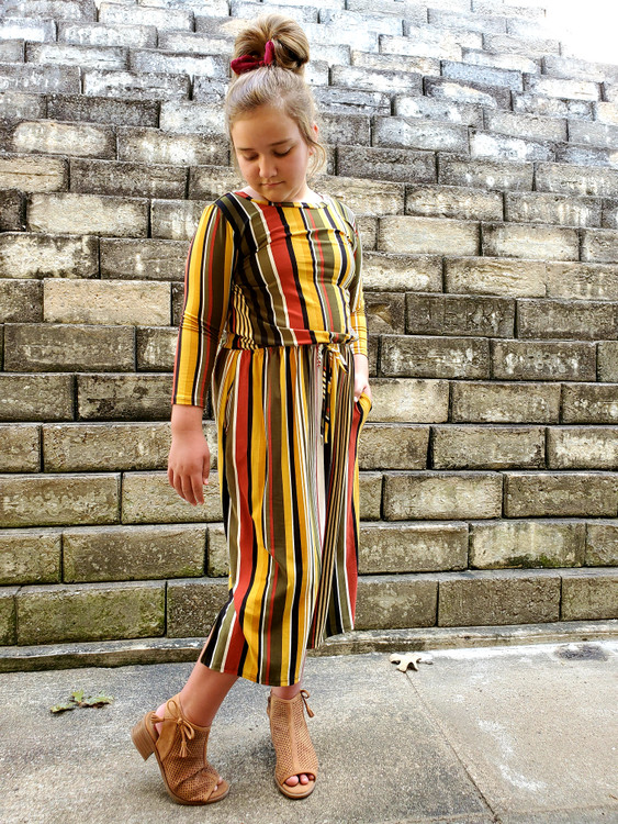 Kendra Multi Stripe Midi Dress