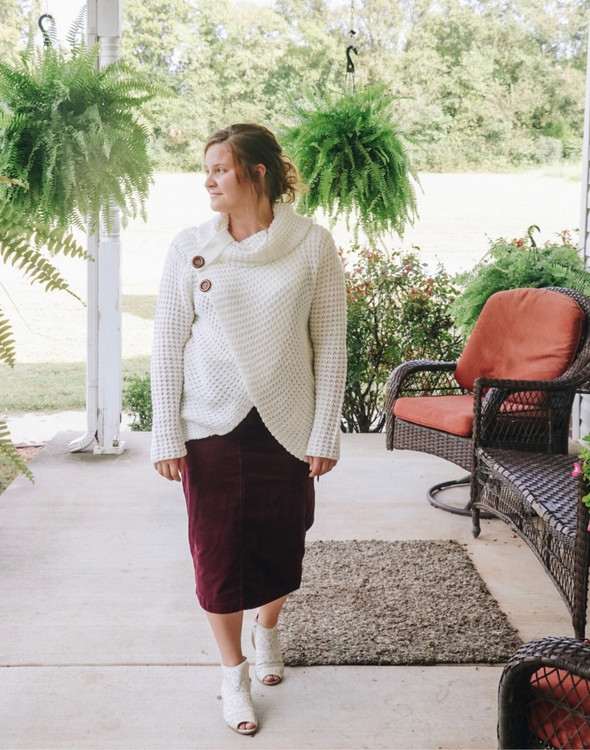 Cozy Up Cowl Neck Sweater in Ivory
