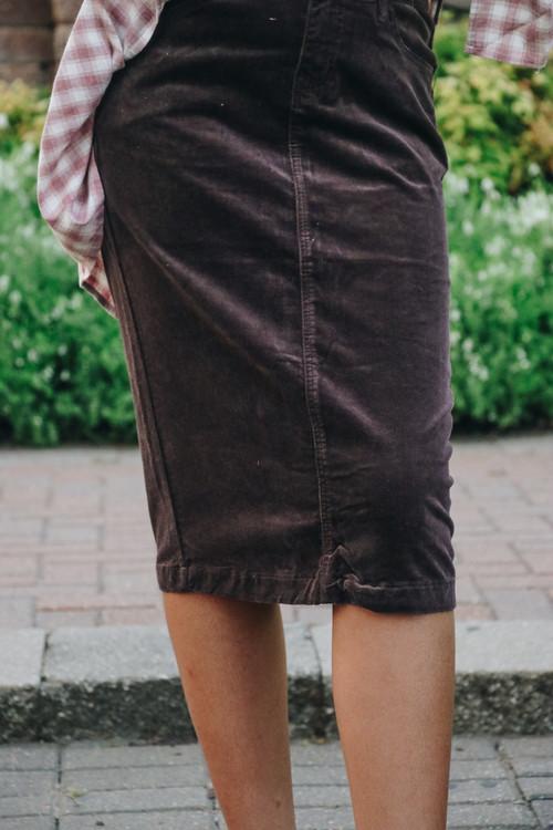 Aubrey Corduroy Skirt *Chocolate*