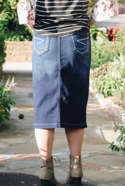 Sadie Denim Skirt Vintage Wash