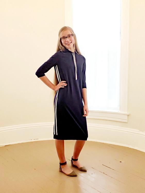 The Hoodie Dress *Navy* Final Sale