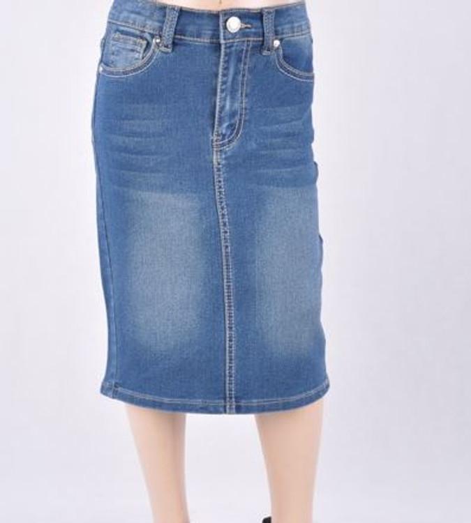 Cami Mid Length Denim Skirt Indigo Wash *Girls*