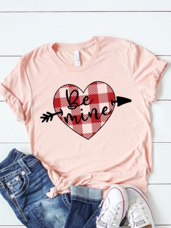 Be Mine Plaid Heart Graphic Tee *Final Sale*