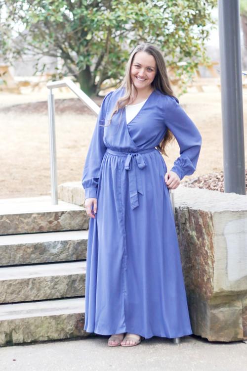 Reflections Flowy Maxi Dress *Blue* Final Sale
