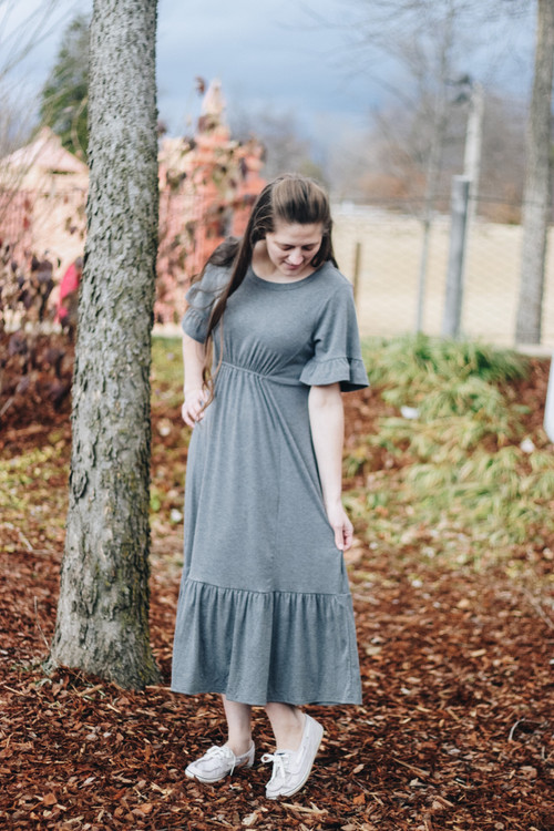 Off On An Adventure Knit Dress *Heather Grey*