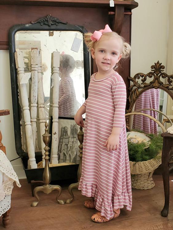Willow Swing Dress Pink Stripe *Toddler Girls*
