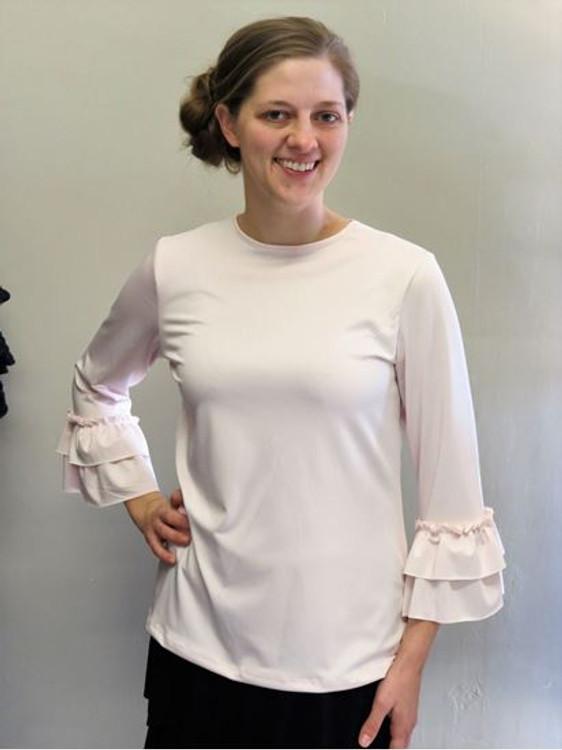 Andrea Ruffle Layering Shirt Blush Whisper