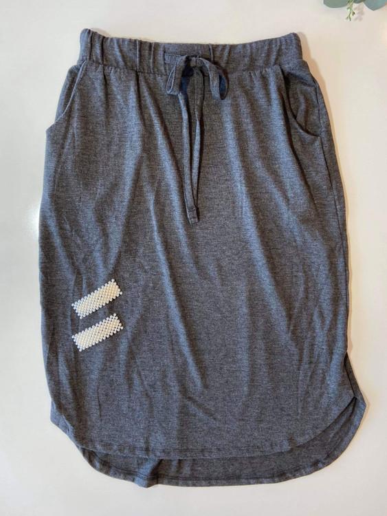 Amelia Drawstring Skirt *Charcoal*