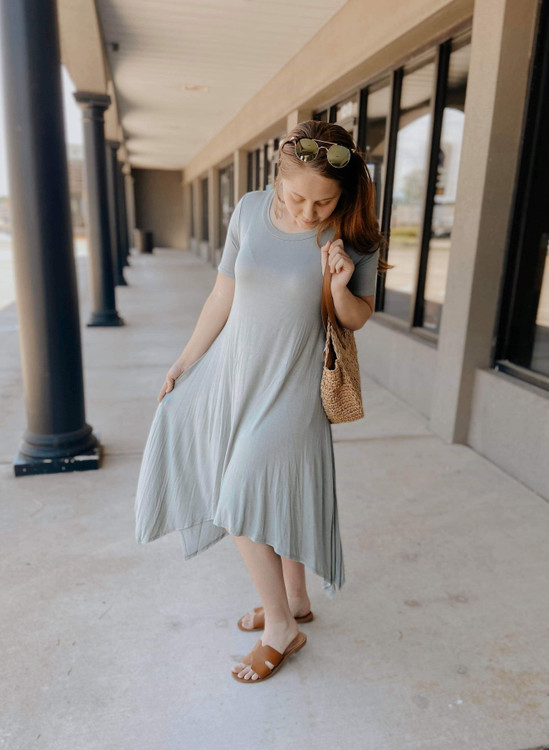 Maddie Tee Dress *Sage*