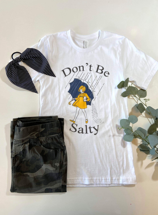 Don't Be Salty Graphic Tee *White*