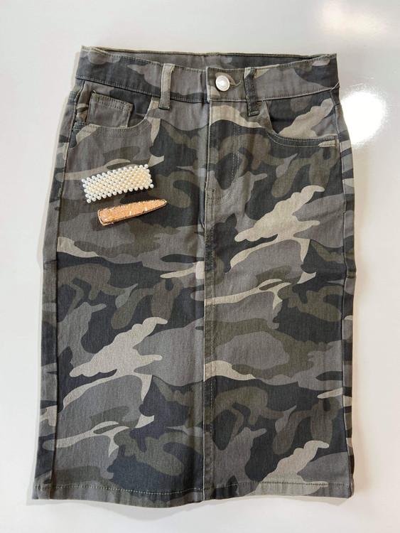 Colored Denim Skirt Camo *Girls*