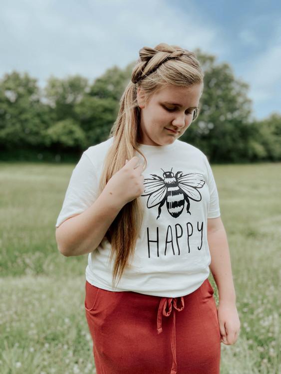 Bee Happy Graphic Tee