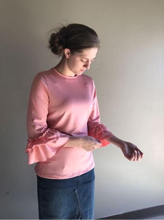 Andrea Ruffle Layering Shirt Perfect Pink