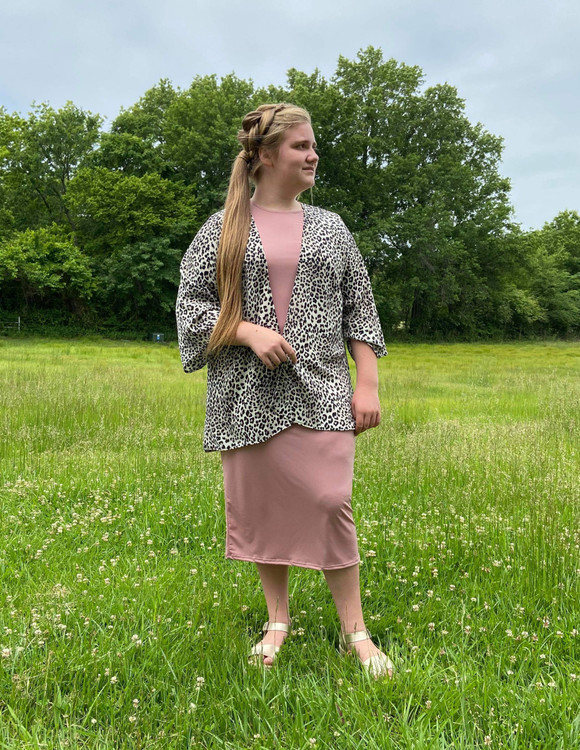 Layering Dress in Dusty Mauve