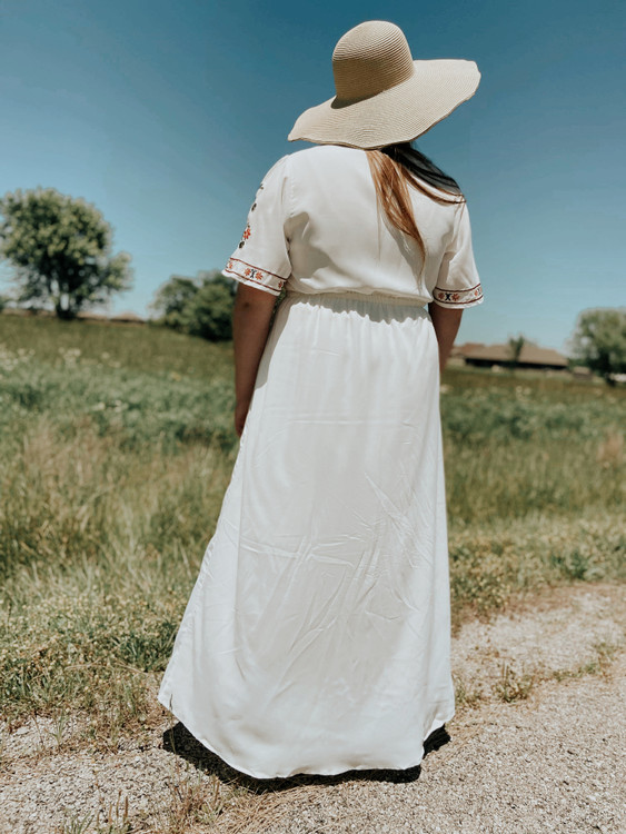 Promise in My Heart Embroidered Dress
