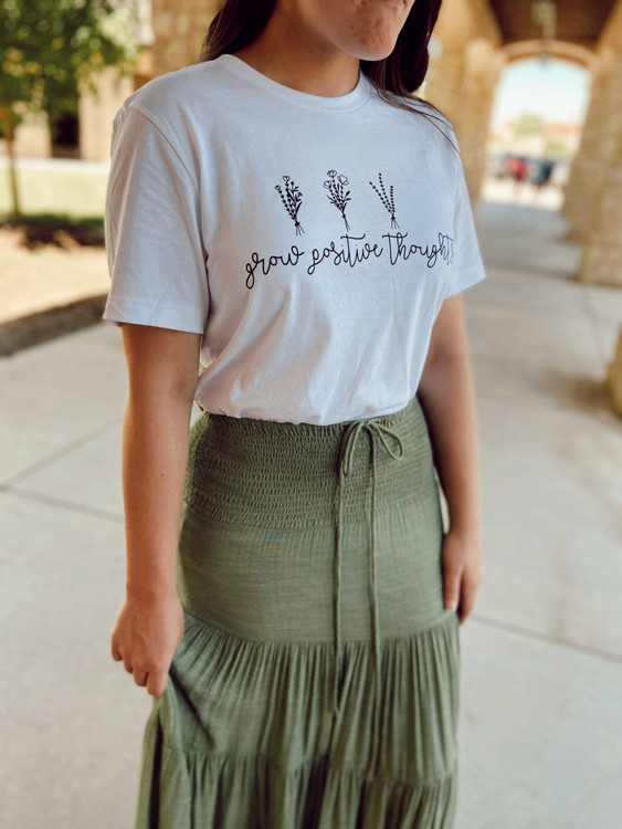 Grow Positive Thoughts Graphic Tee Final Sale
