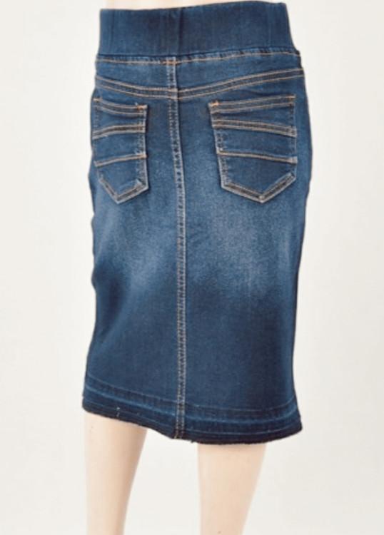 Jennifer Dark Wash Denim Skirt *Girls*
