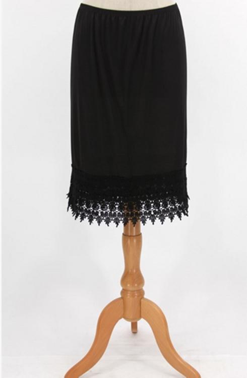 Slip Skirt Extender Black