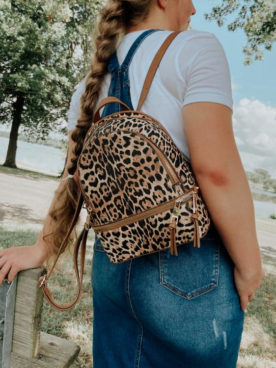 Animal Print Leopard Backback
