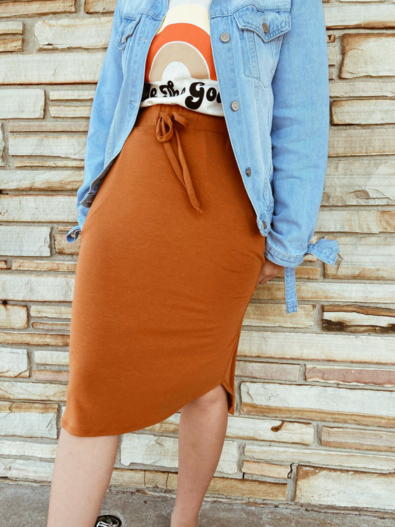 Amelia Drawstring Skirt *Toasted Almond*
