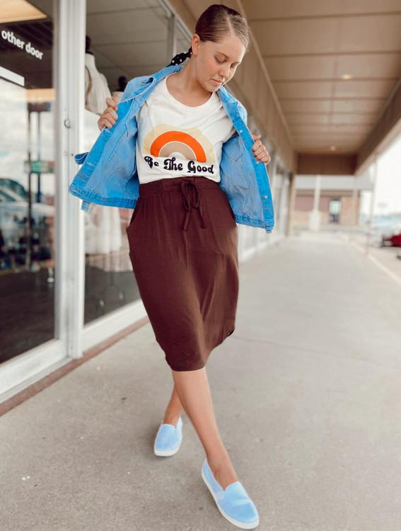Amelia Drawstring Skirt *Americano*