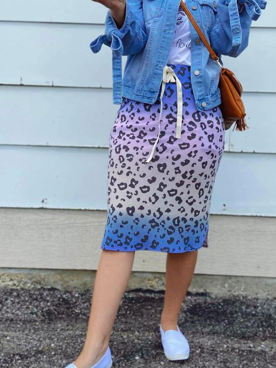 Drawstring Sport Skirt *Tie Dye Cheetah*