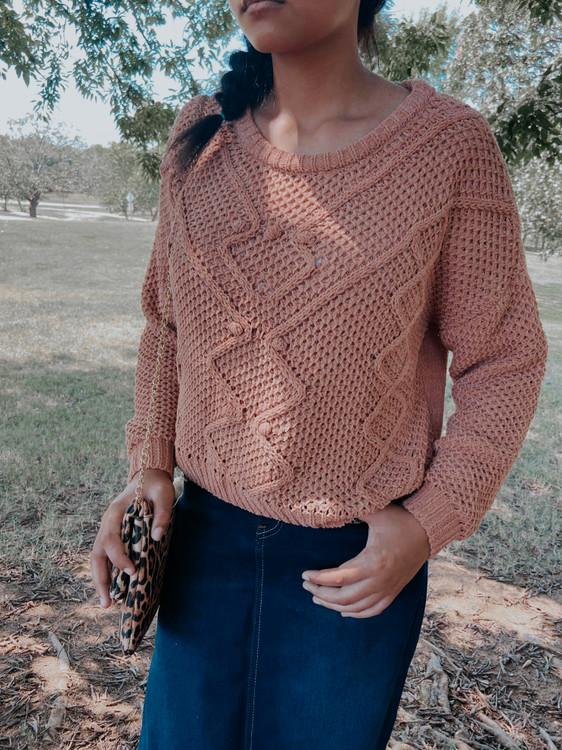 Perfect PomPom Sweater *Mauve* FINAL SALE