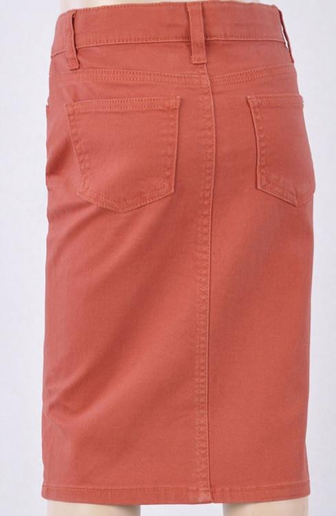 Colored Denim Skirt Terracotta *Girls*