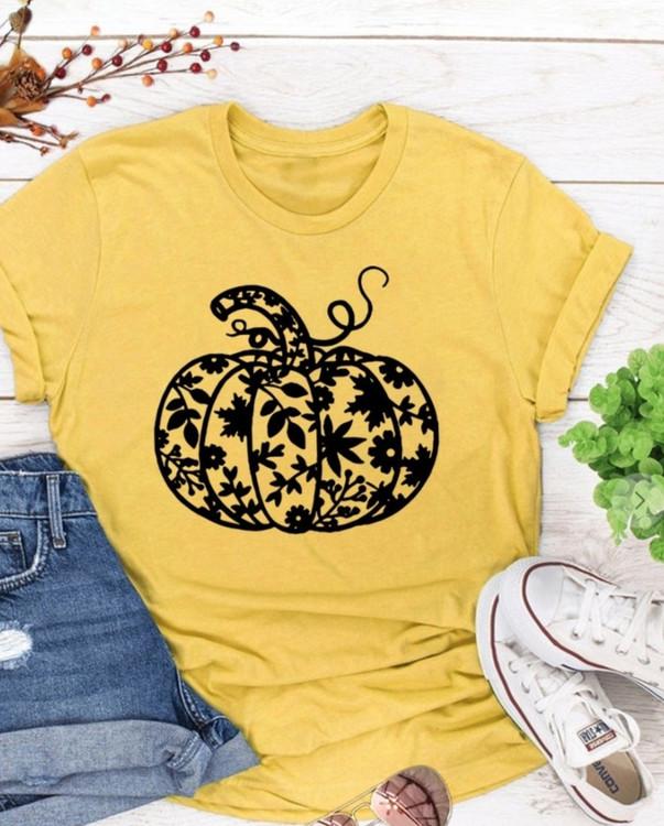 Mustard Pumpkin Graphic Tee