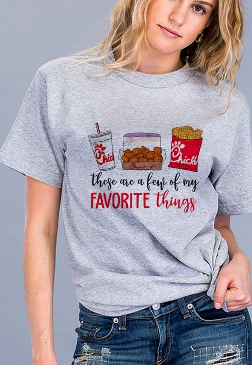 Chic Fil A Favorite Things Graphic Tee *Grey*