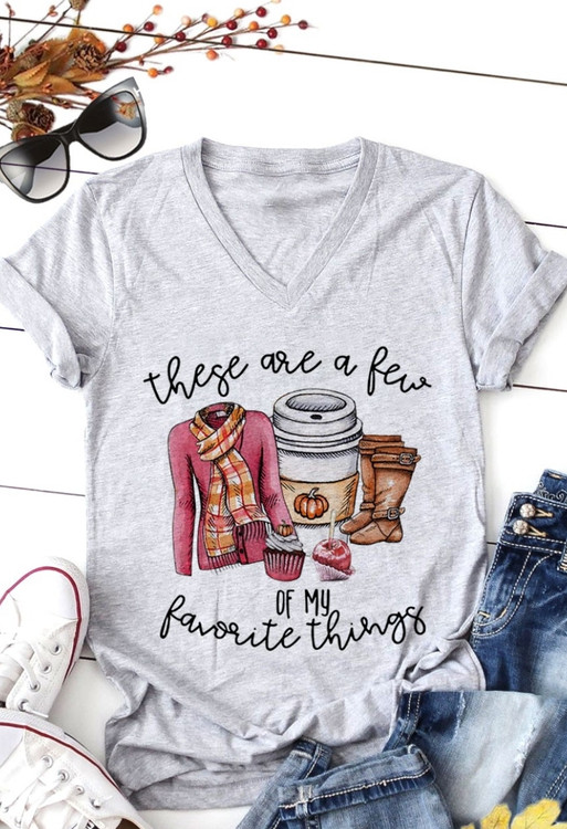 These Are A Few Of My Favorite Things Fall Graphic Tee