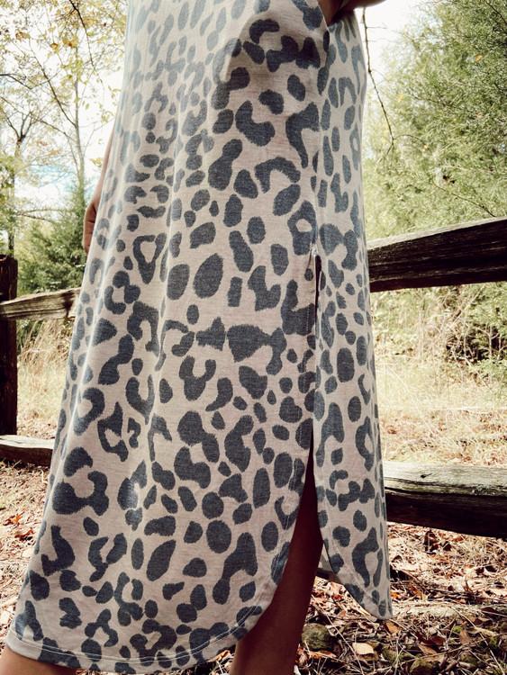 Into the Wild Leopard Maxi Dress