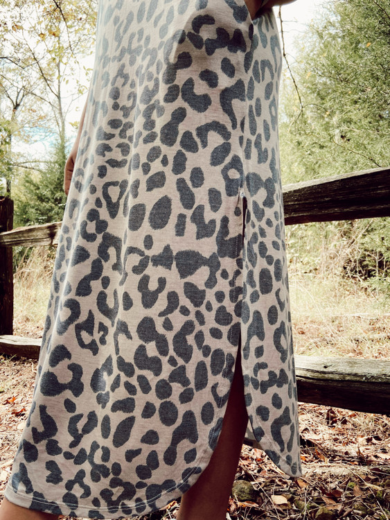 Into the Wild Leopard Maxi Dress