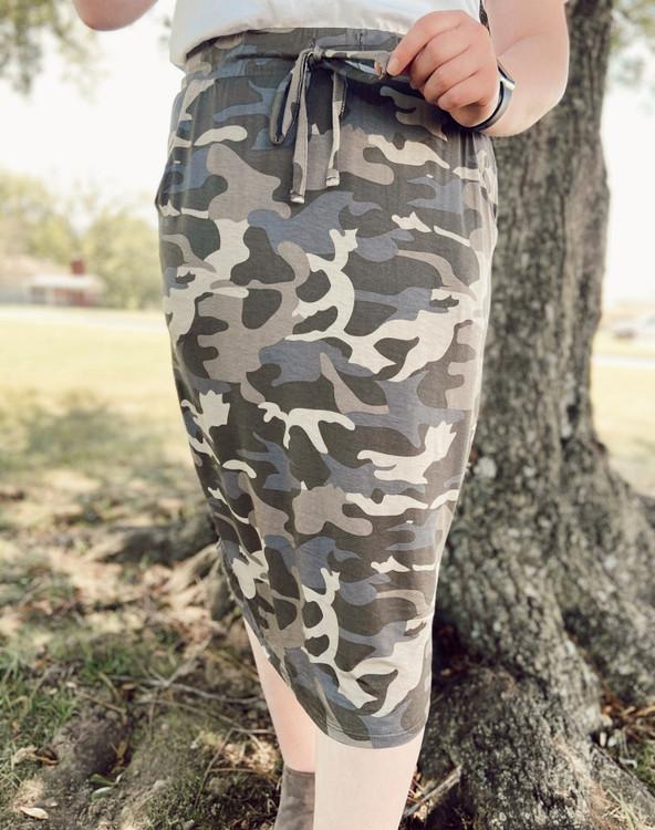 Amelia Drawstring Skirt *Camo*