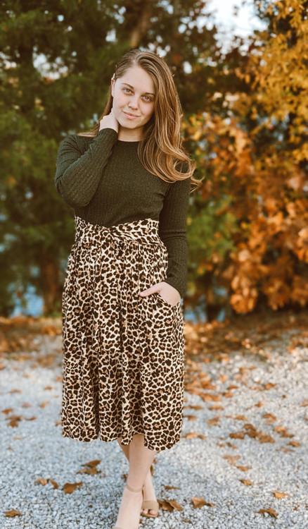 Twice as Pretty Leopard Print Dress *Olive* Final Sale