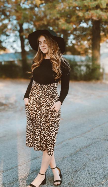 Twice as Pretty Leopard Print Dress *Black*