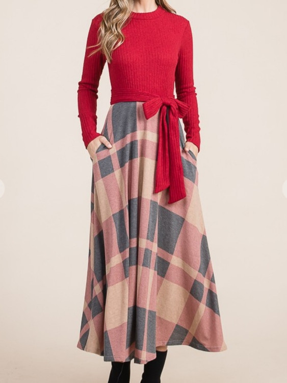 Holiday Delight Plaid Dress *Final Sale*