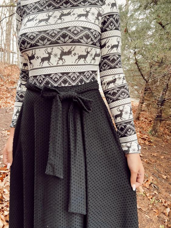 Fair Isle Dress Black *Final Sale*