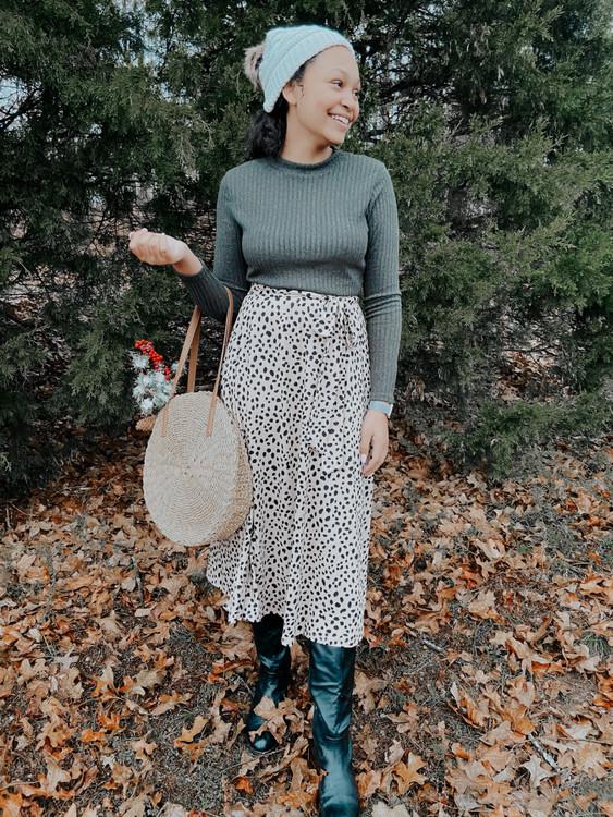 Cheetah Print Dress in Olive